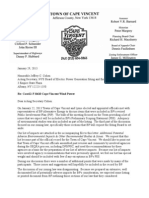 Town of Cape Vincent  Letter to the PSC 1-29-13