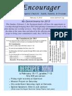 Encourager for February 3, 2013