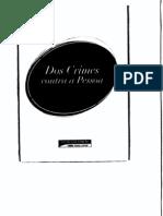 Sinopse Saraiva 8 - Direito Penal - Crimes Contra a Pessoa