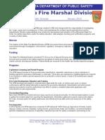Fire Marshal Fact Sheet
