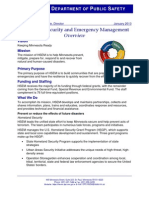 Homeland Security and Emergency Management Fact Sheet