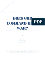 Does God Command Holy War?
