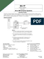 Aiphone Model BA-1P Instr- Westside Wholesale - Call 1-877-998-9378