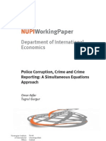 Department of International Economics Police Corruption Crime and Crime Reporting A Simultaneous Equations Approach