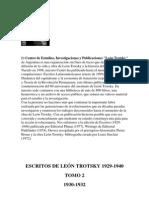 Bronstein, L. D. 'Trotsky' - Escritos (1930-1932) [II]