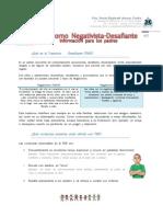 Qué es el Trastorno Negativista
