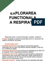 Explorarea Functionala a Respiratiei