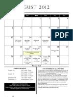 LMES School Calendar 2012-2013