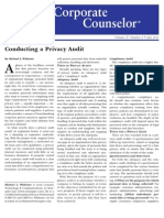 Conducting a Privacy Audit