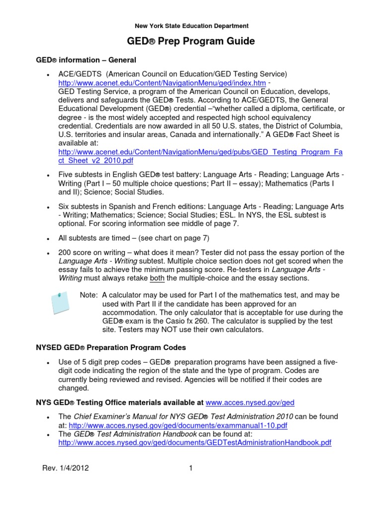 ged essay samples 2011