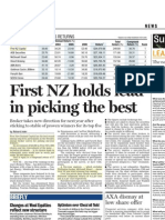 First NZ holds lead