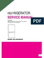 ServiceManuals LG Fridge GR349SQF GR-349SQF Service Manual