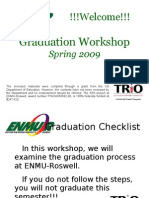 Graduation Workshop ENMU-Roswell Online Spring 2009
