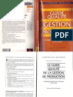 Le Guide Qualite de La Gestion de Production
