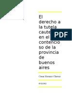 El Derecho a La Tutela Cautelar en El Contencioso de La Provincia de Buenos Aires