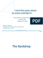 Nine Hot-Button Legal Issues in Cloud Contracts