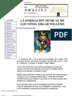 La formación musical de los niños. Edgar Willems