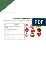 Español - Describo un  producto