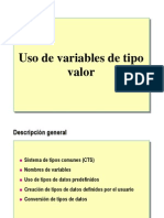 3.- Uso de Variables de Tipo Valor