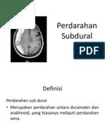 Perdarahan Subdural atau Subdural Hematom