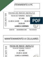 Cursos Sabatinos Enero Febr 2013