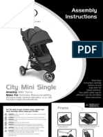 Baby Jogger City Mini Stroller Assembly
