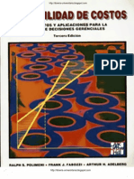 Contabilidad de Costos , 3ra Ed - Ralph S. Polimeni, Frank J. Fabozzi, Arthur H. Adelberg & Michael a. Kole