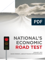 National's Economic Road Test