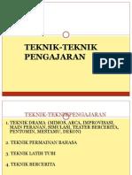 KULIAH 10 Aplikasi Teknik Pengajaran
