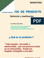 Conceptos de Producto - Mercadotecnia