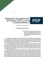 RITE (ITE)_Reglamento de Instalaciones Térmicas en Edificios