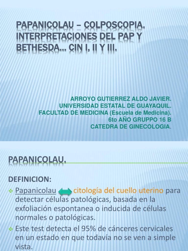 Papanicolaou en mujeres histerectomizadas pdf