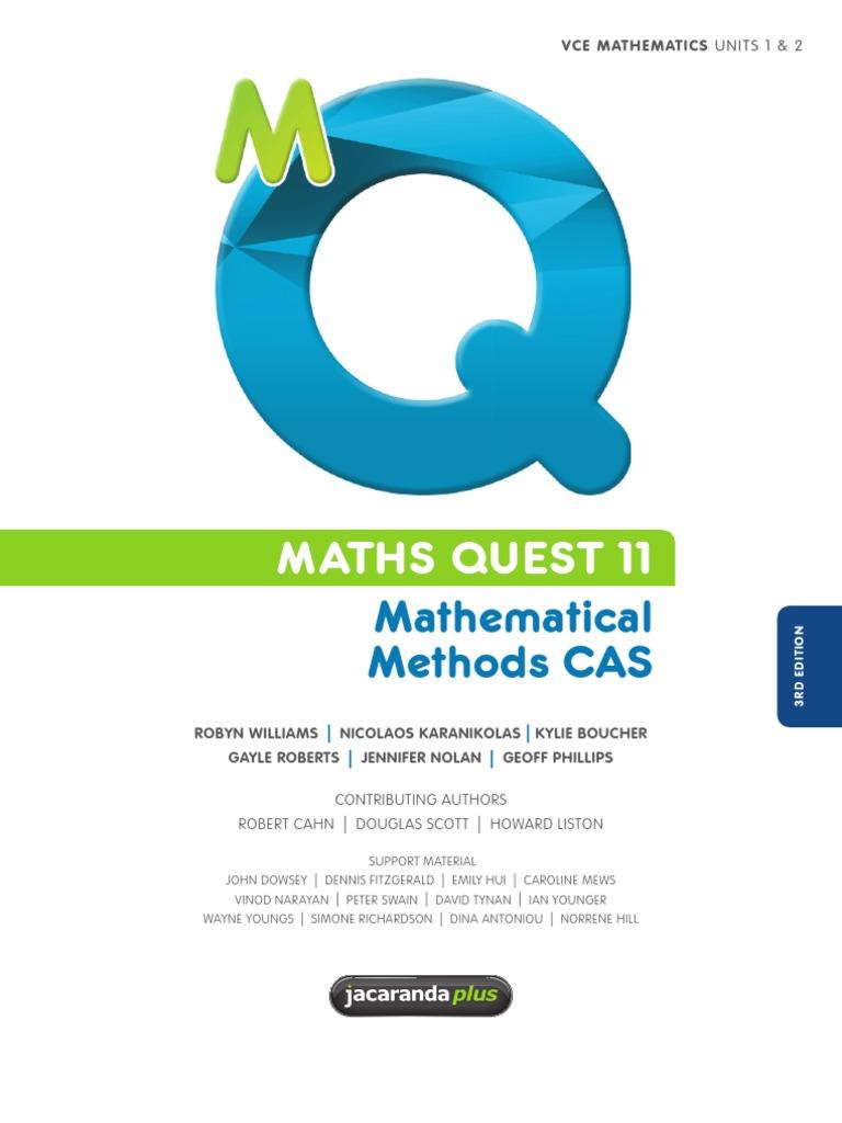 Mathematical methods cas maths quest 11 quadratic equation mathematical methods cas maths quest 11 quadratic equation factorization fandeluxe Image collections