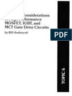 Electronics - Motor Driving - 4 - Considerations in High Performance Mosfet, Igbt, And Mct Gate D