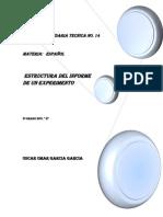 Estructura Del Informe de Un Experimento Final
