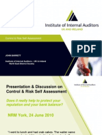 Control, Risk & Self Assessment By John Barret