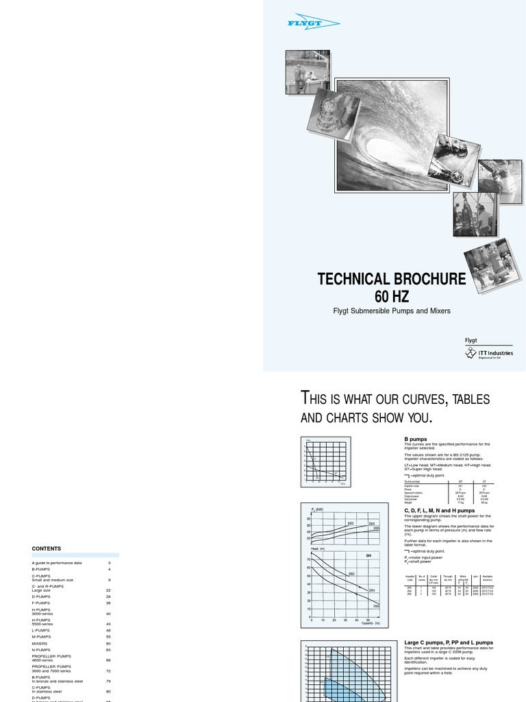 Technical Brochure 60 HZ: Flygt Submersible Pumps and Mixers