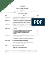 Agenda Del16 de Enero de 2013