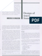 design of tower foundations