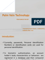 seminar ppt on palm vein technology