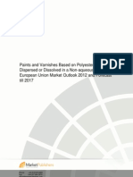 Paints n Varnishes Based on Polyesters Dispersed or Dissolved in a Non Aqueous Medium European Union Market