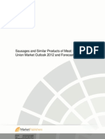 Sausages and Similar Products of Meat European Union Market Outlook 2010 and Forecast Till 2015