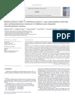 Relation Between 3435CNT Multidrug Resistance 1 Gene Polymorphism With High