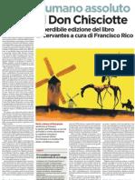 L'umano assoluto di Don Chisciotte. Nuova edizione Bompiani - L'Unità 30.01.2013