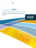 The Intellectual Property Office Report - Copyright works - Streamlining copyright licensing for the digital age