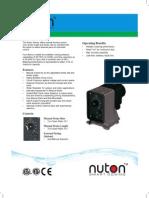 Aventura Dosing Pump brochure