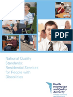 National Quality Standards Residential Services People With Disabilities