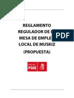 Reglamento Regulador Mesa Empleo Local