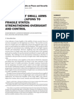 Transfers of small arms and light weapons to fragile states