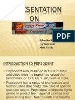 presentation on  pepsodent